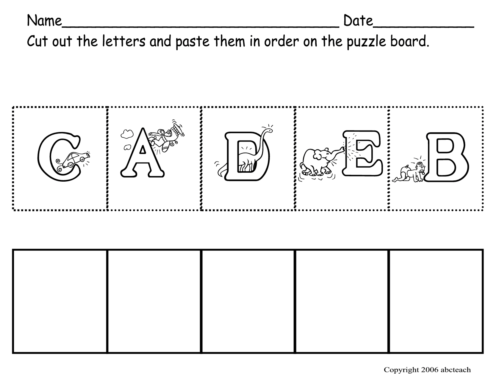 Preschool Abc Worksheets
