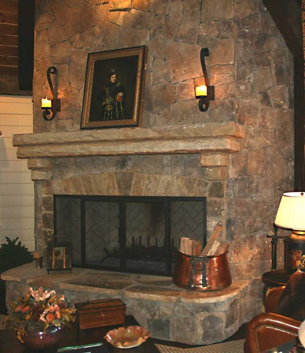 Stone Fireplace Hearth Ideas