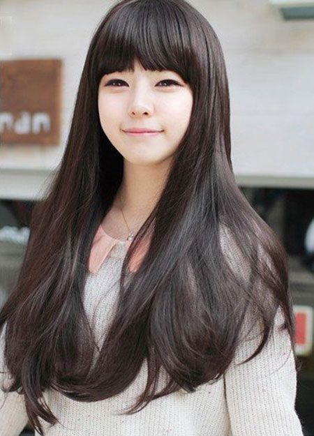Sweet & Romantic Asian Hairstyles For Young Women Bobs Straight