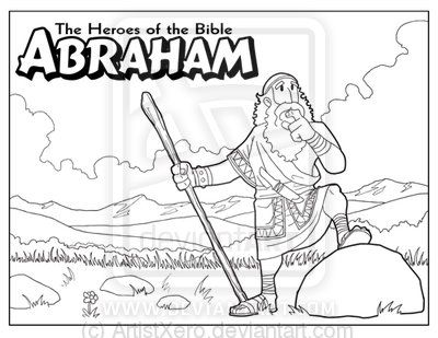 Abraham coloring page by ArtistXero.deviantart.com on