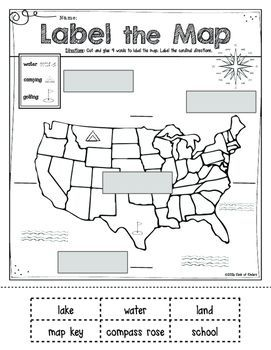 Mapping: Label It! First Grade and Kindergarten Social