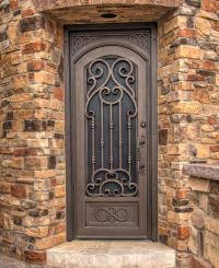 Verona Iron Entry Door