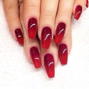 red ombre nails ideas