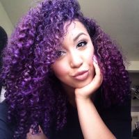 Curly Purple Hair using Manic Panic Purple haze! | Hair ...