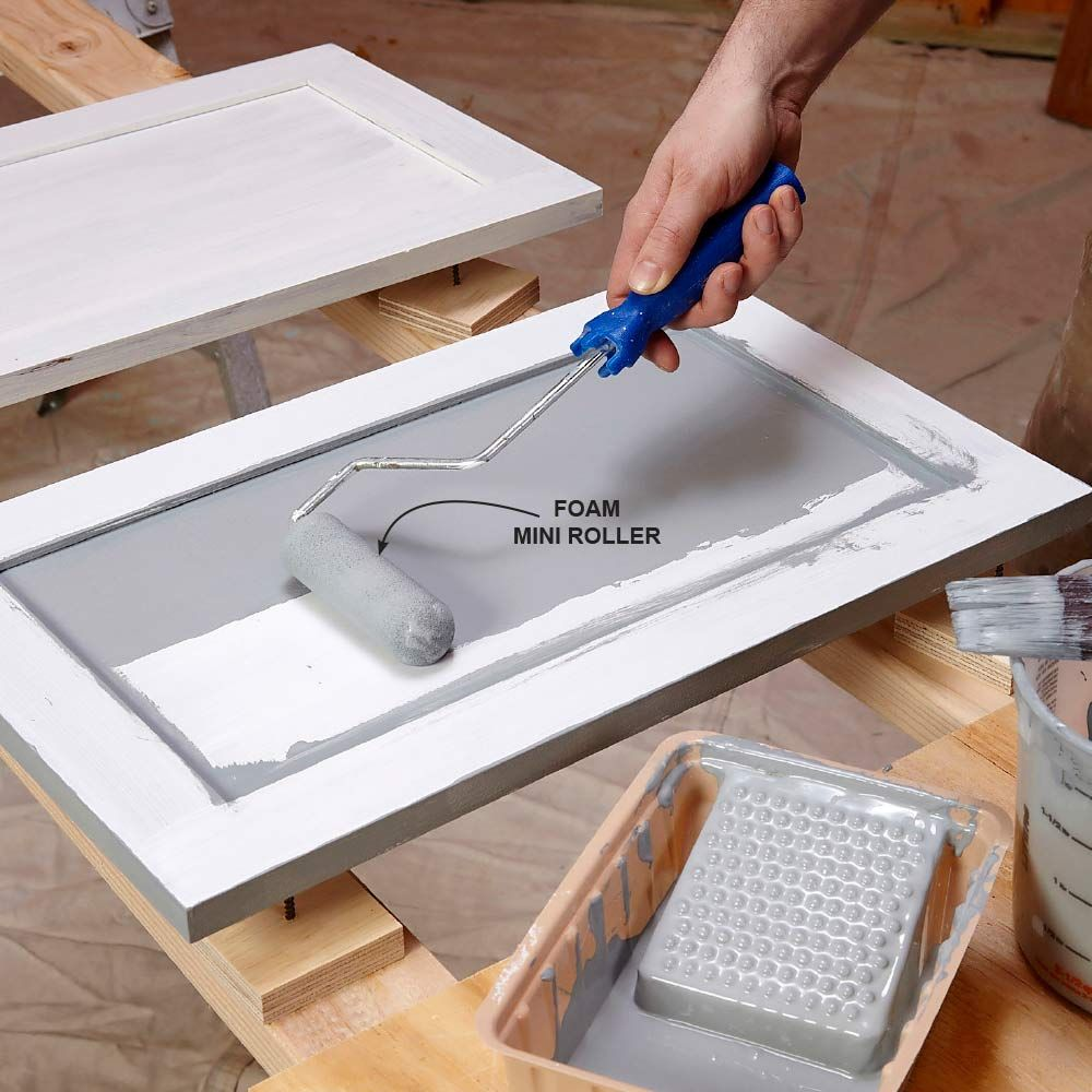 how to get a smooth finish when painting kitchen cabinets uk