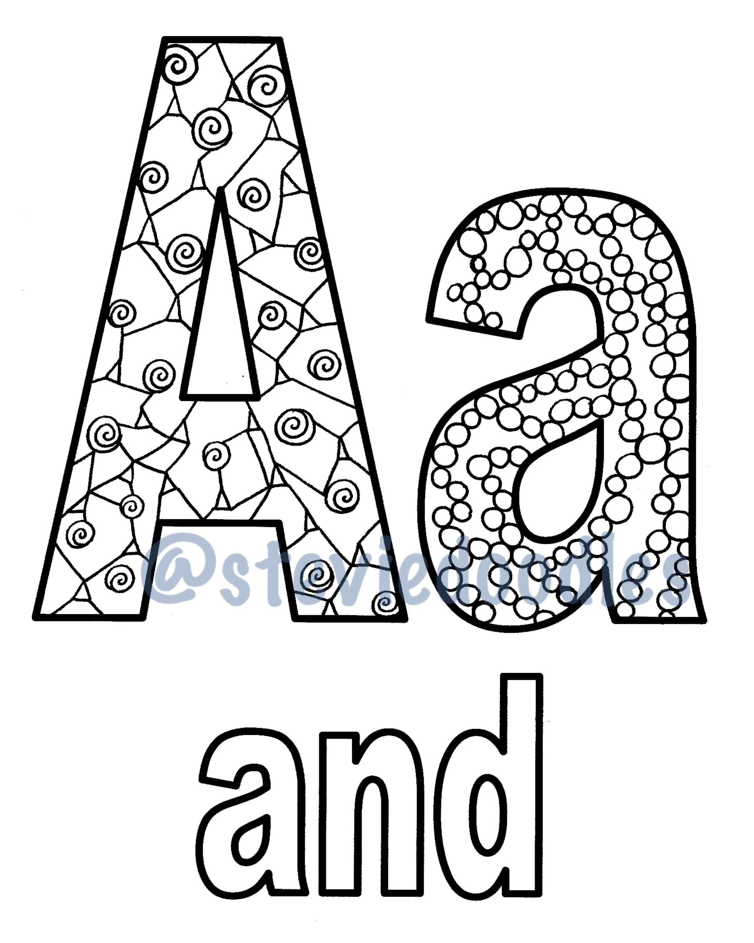Coloring Pages For Every Letter Of The Alphabet