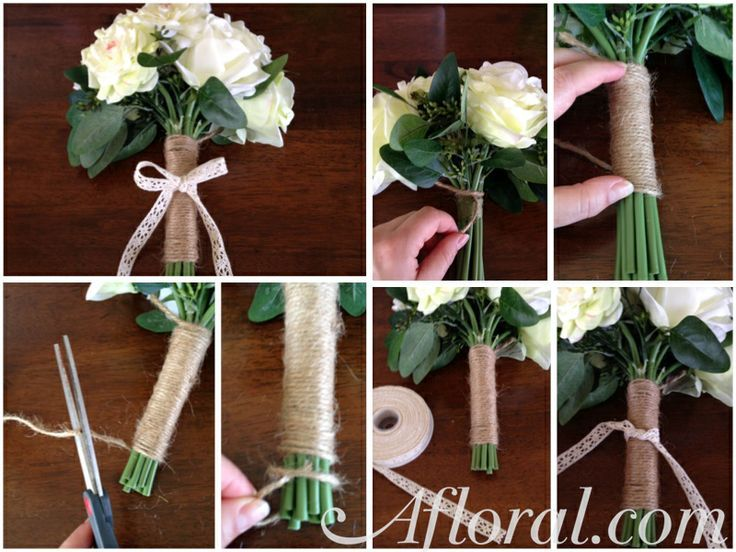 Wrap A Bouquet -DIY How To. Make This Jute Bouquet Wrap