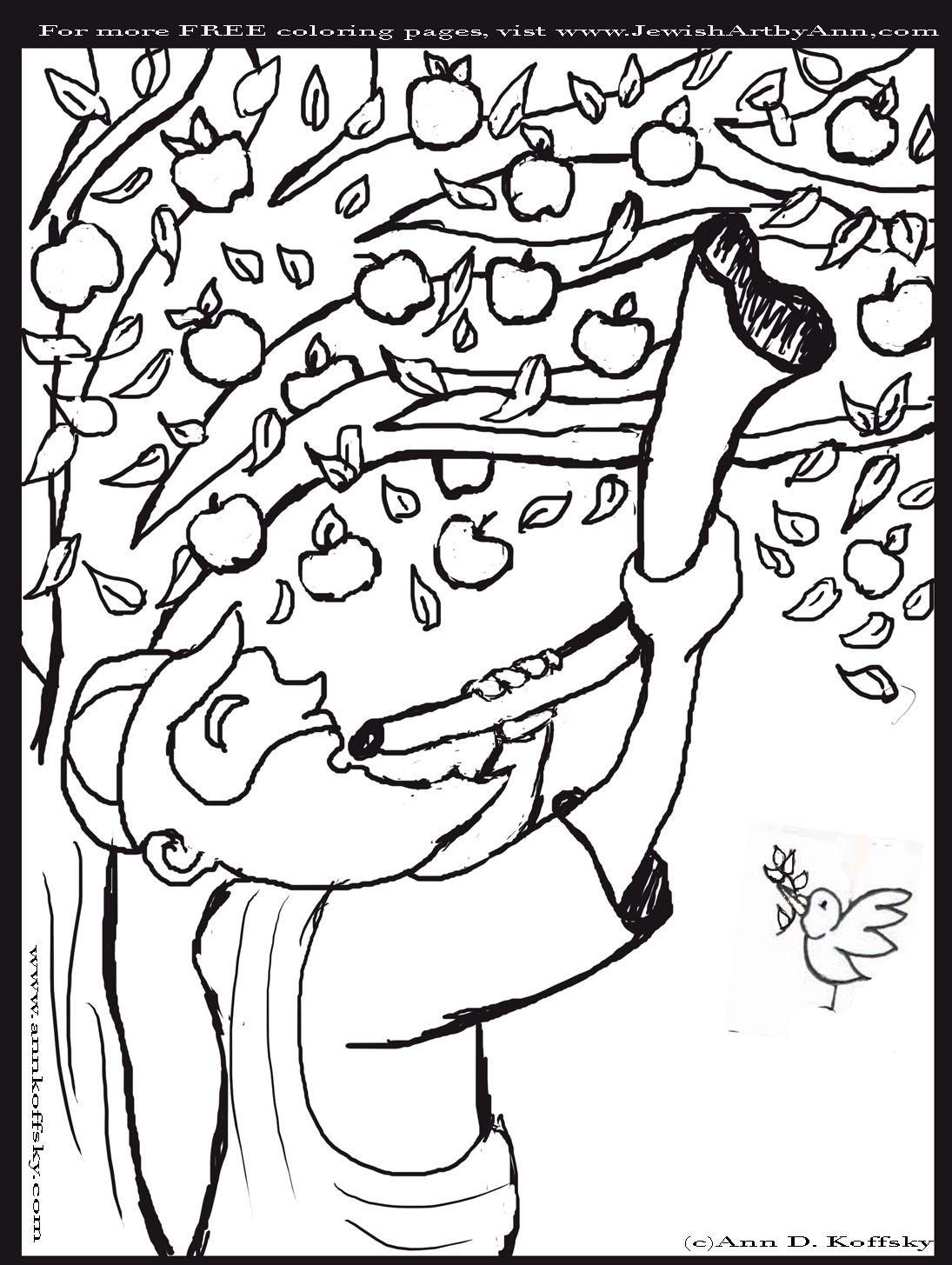 Shofar Rosh Hashana Coloring Page Waldorf Third Grade