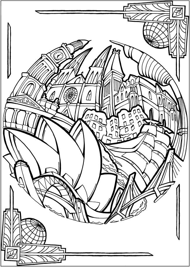 BLISS CITIES Coloring Book: Your Passport to Calm by