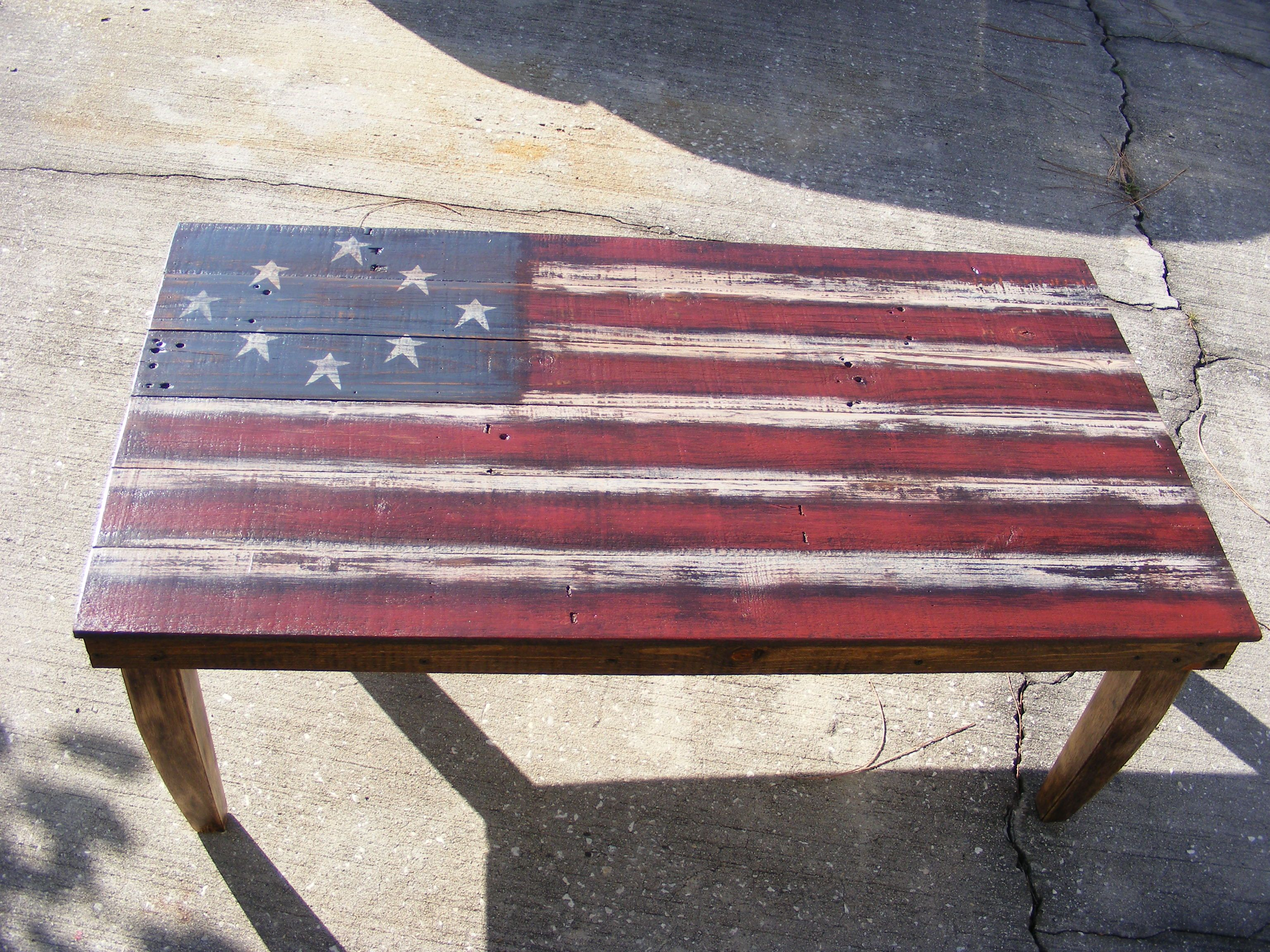 american flag chair olive green pallet coffee table easy craft ideas