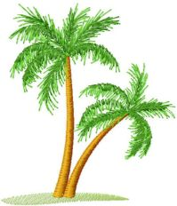 Palm tree free embroidery design - Machine embroidery ...