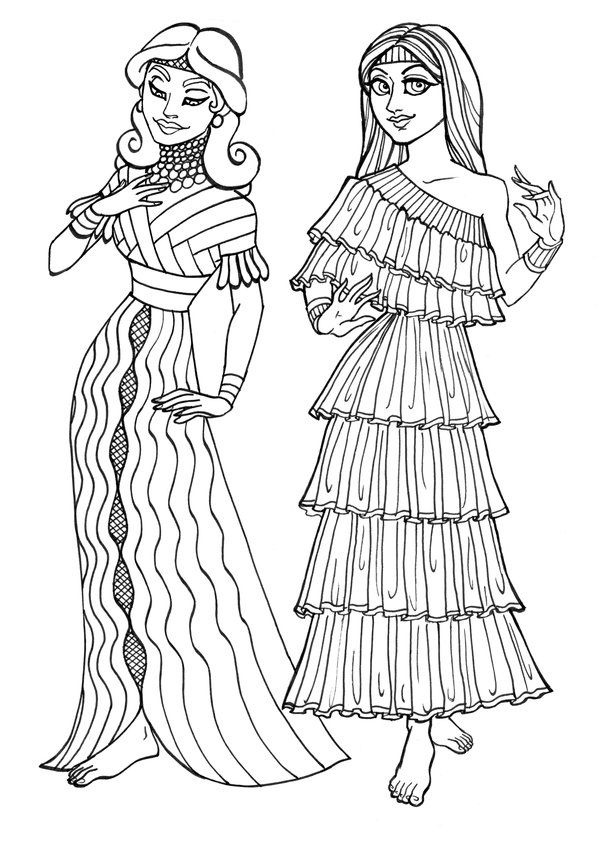 Ancient Sumerian Gals by *Scargut-the-Gutless on