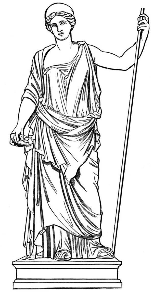 Greek Mythology, : A Statue of Hera the Queen Goddess of