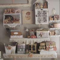 craft room idea - so pretty, shabby chic | Organizing ...