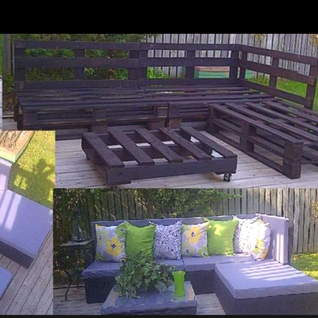 diy patio furniture from pallets these actually look nice unlike a lot of other