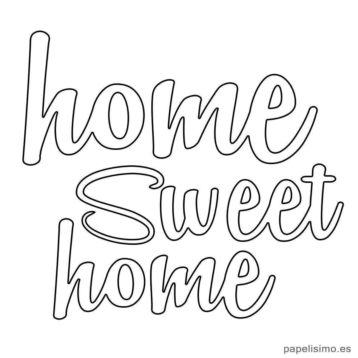 Letras Home Sweet Home Hogar Dulce Hogar Diy