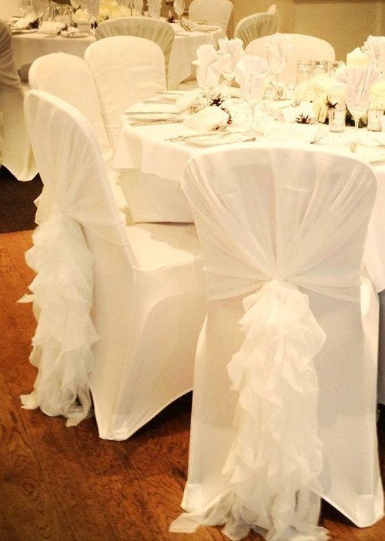 diy organza chair covers knoll chadwick parts ruffled sash chiffon hood by vowwowdecor | wedding pinterest ...