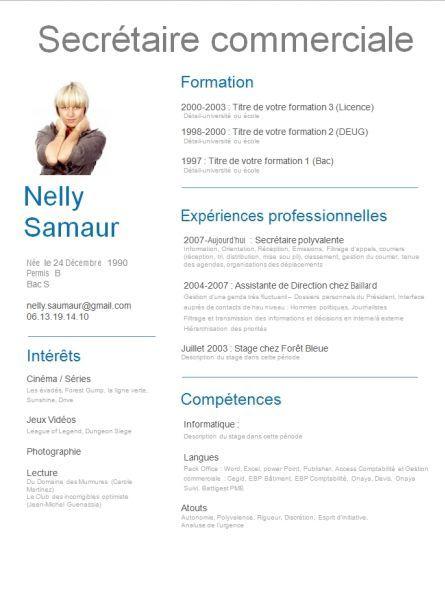 cv secretaire administrative competences