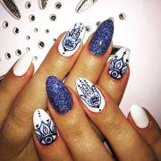 beautyful blue sea summer nails