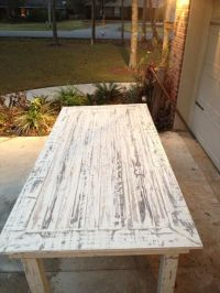 White Washed Pallet Farmhouse Table | Pallet Furniture DIY ...