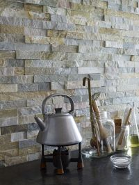 Oyster Maxi Split Face 15x60 wall tile. An interlocking ...
