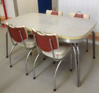 Retro Vintage 1950'S Laminate Kitchen Table 4 Chairs ...