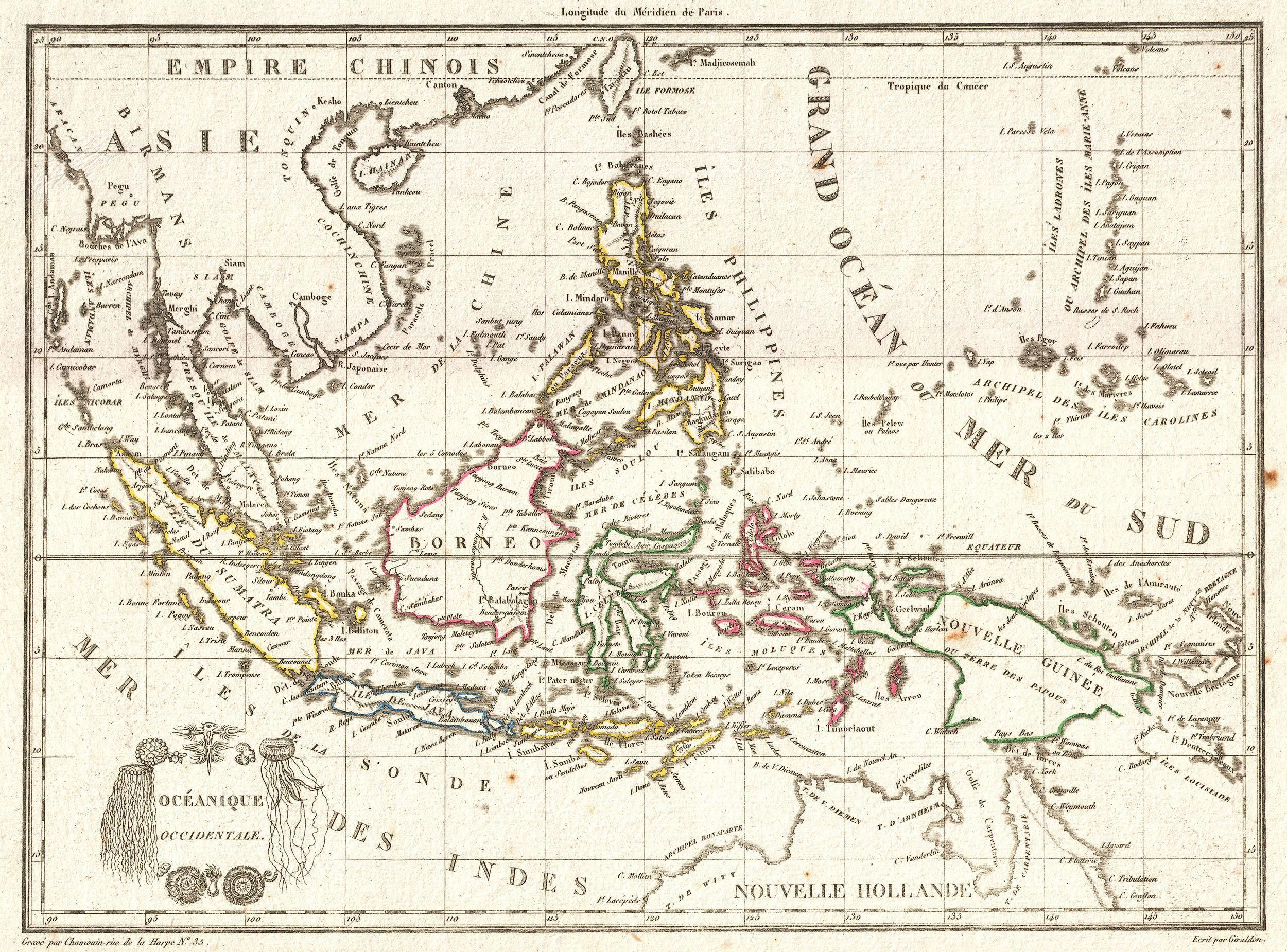Tar U Map Of The East In S Singapore Southeast