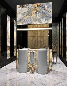 Marchenko  pazyuk design luxury interior bathroom in apartments moscow russiais blackwhite gold modern is sophisticated glam chic also best images about on pinterest stainless steel rh