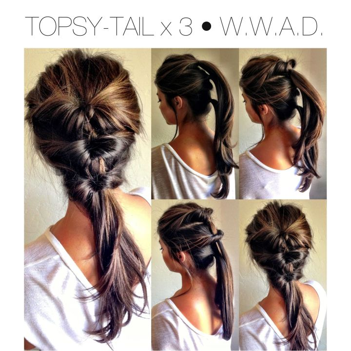 QUICK HAIR STYLE Topsy Tail • Pony Tail • UpDo • Fall Hairstyle