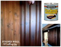 How to stain old wood paneling without sanding....could ...
