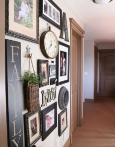 Gallery wall ideas  like the large vertical family sign  mr and mrs interior best design guide atom also another pinner wrote lookie what did our picture rh pinterest