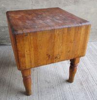 Vintage Solid Maple Butcher Block Table-Wood Welded ...