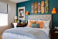 Project Nursery - Teal and Orange Skateboarding Bedroom ...