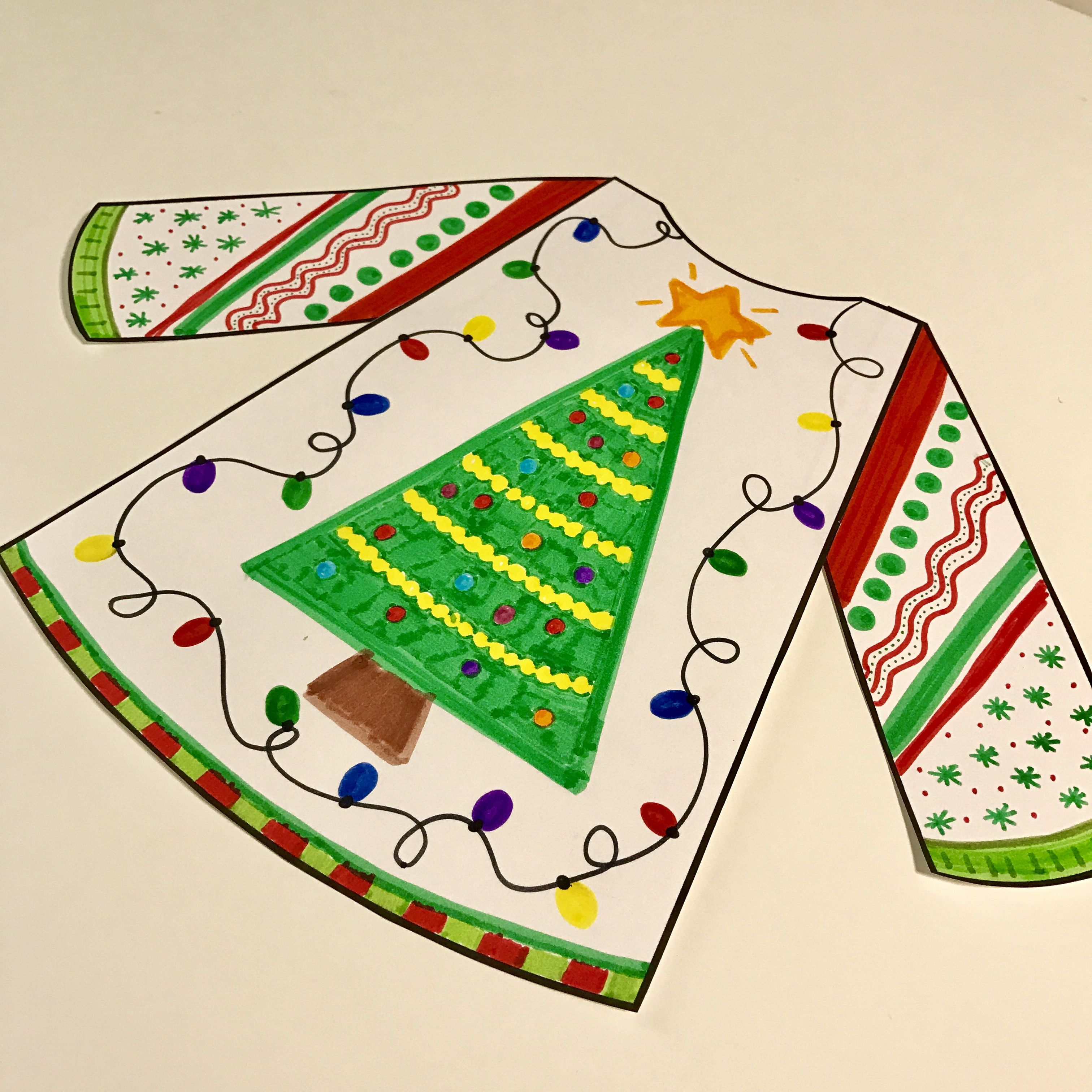 Ugly Christmas Sweater Writing Craftivity Amp Inference