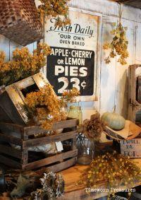 Fall display. Fall decorating. Fall retail decorating ...