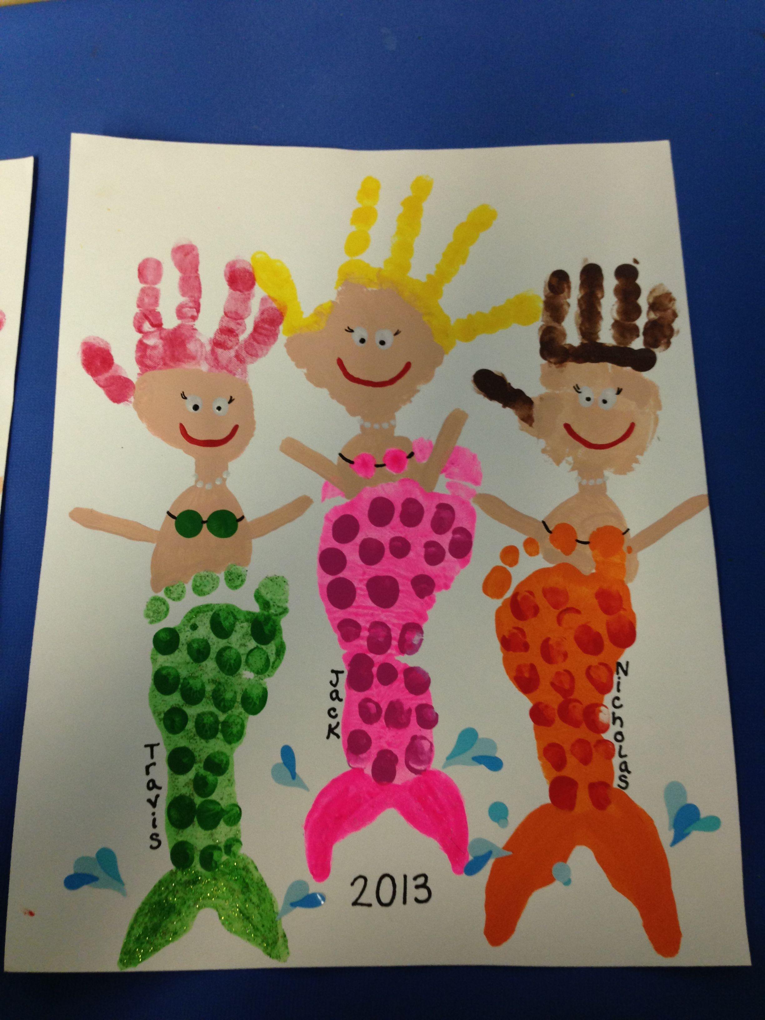 Footprint Handprint Mermaids