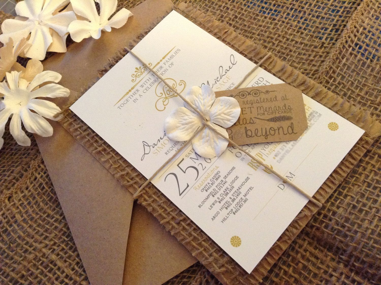 Best 25+ Burlap Wedding Invitations Ideas On Pinterest
