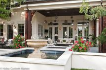 French Country House Front Porch