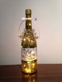 Let it Snow wine bottle lamp | Wine, Wine, and more Wine ...