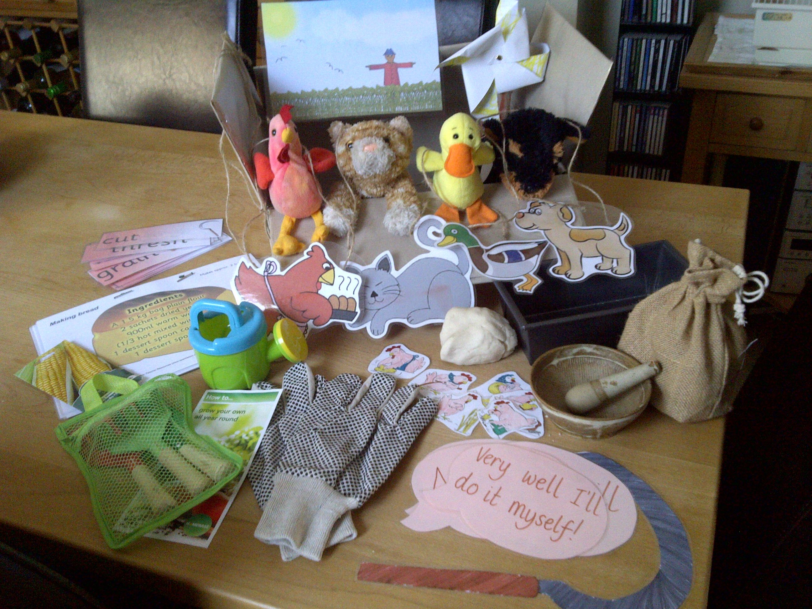 The Little Red Hen Story Box Props To Retell The Story Recipe To Make Bread Story Necklaces