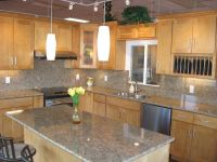 White Granite With Maple Cabinets | Maple Cabinets with ...