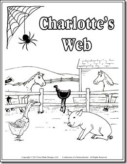 Charlottes Web unit study, plus links to many other book