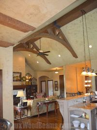 Two arched king trusses made from Timber faux beams ...