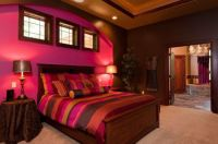 Red, yellow & orange themes: Red and purple bedroom decor ...