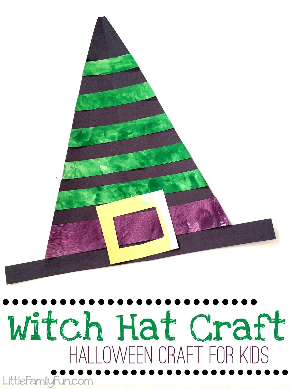 Witch Hat Craft For Kids Fun And Easy Craft For Halloween