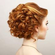 prom updos short curly hair