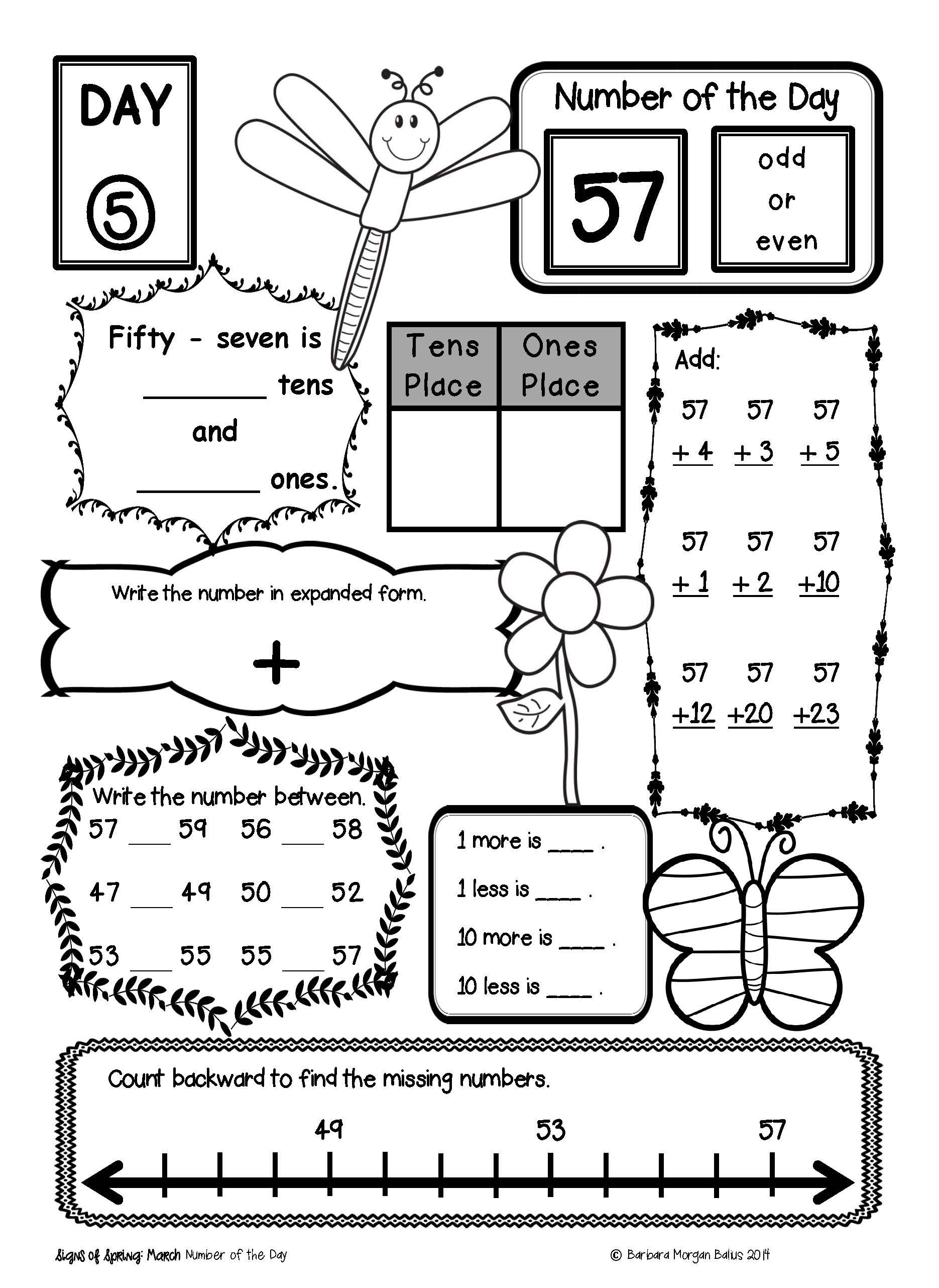 Worksheet Number Of The Day Worksheet Grass Fedjp