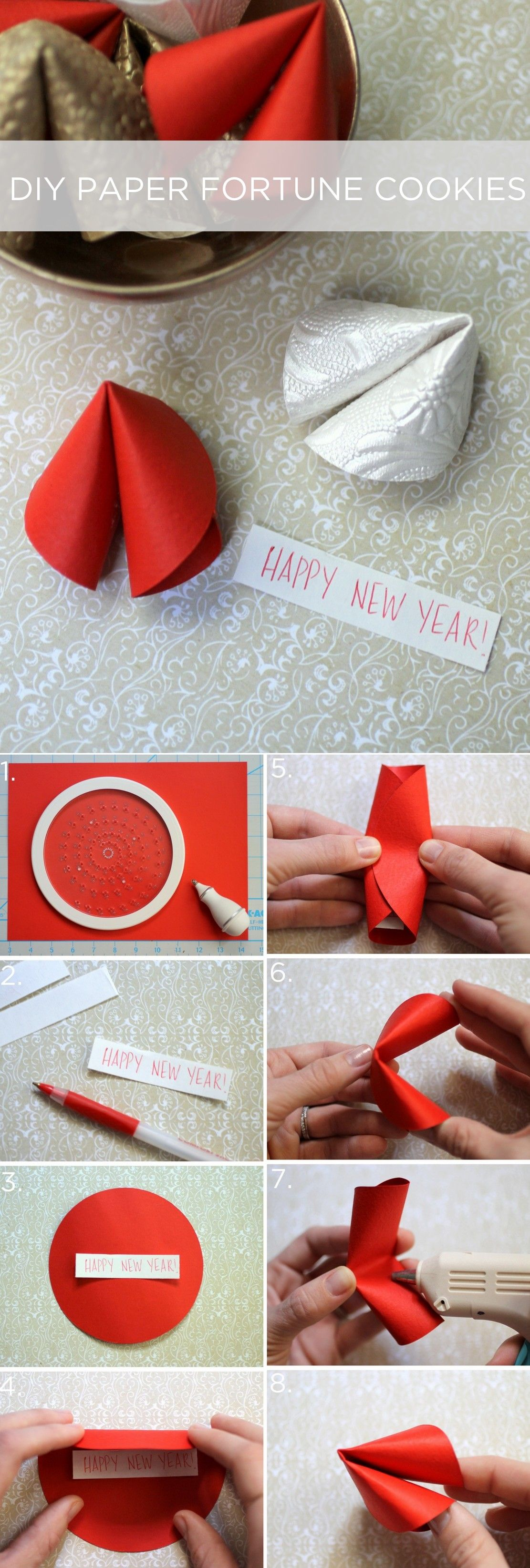 Chinese New Year Diy Fortune Cookie Favors
