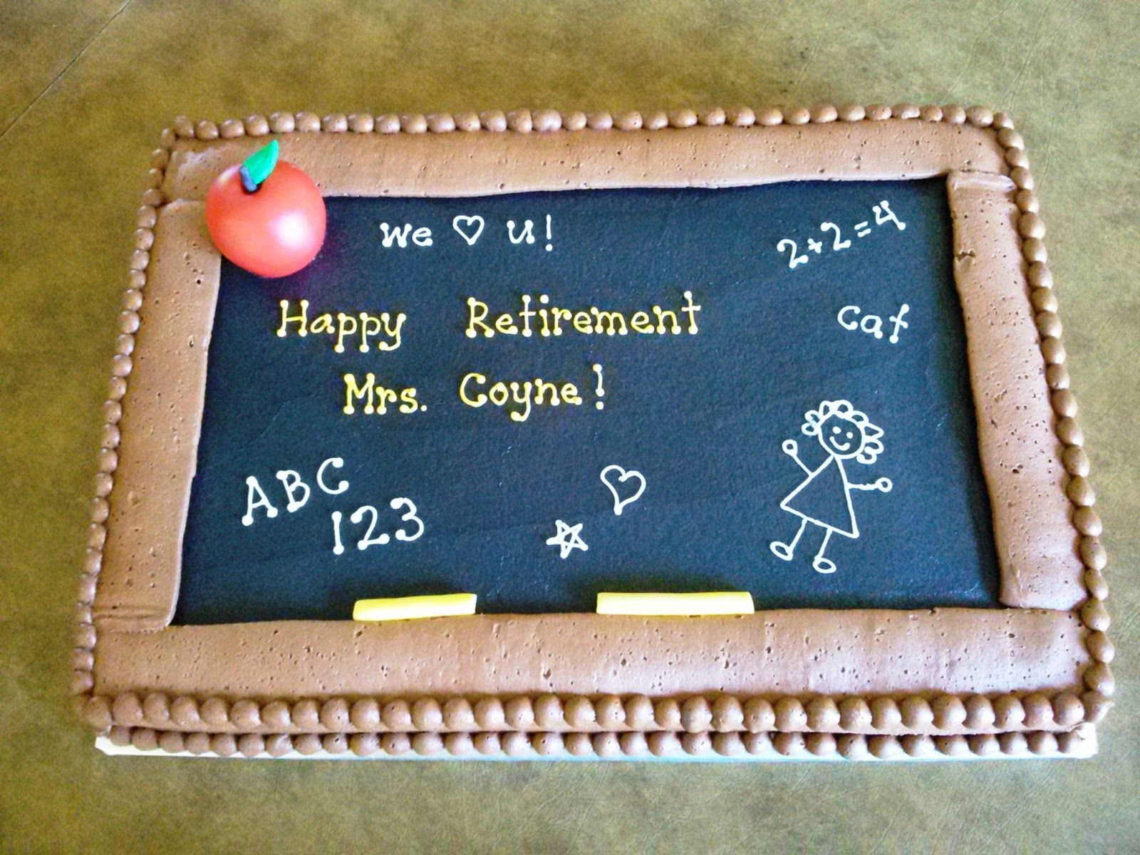 Teacher Retirement Cake Ideas