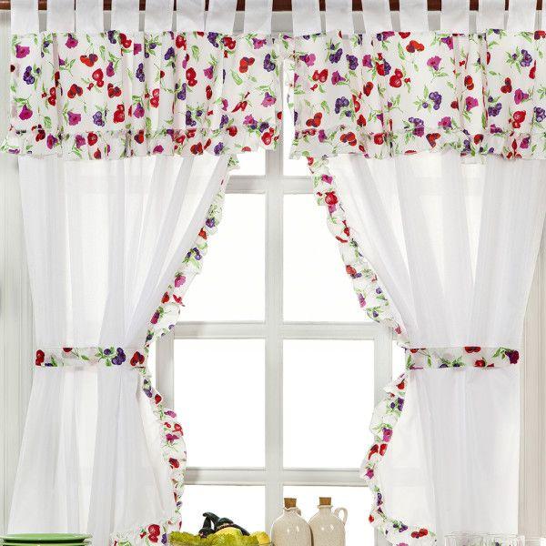 cortinas de cocina  Cortinas para cocina  Pinterest  Curtain ideas and Window